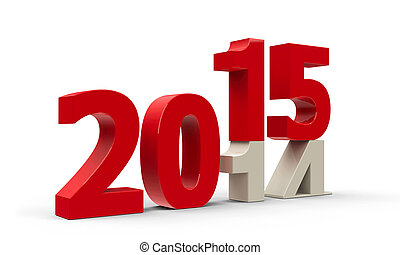 2014-2015 change represents the new year 2015,...