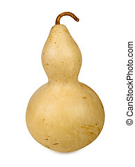 Bottle gourd isolated on a white background