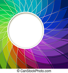 Creative Abstract Digital Light Flower with Round Frame