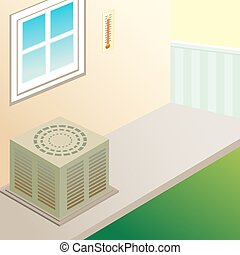 outdoor air conditioner - image of an air conditioner...