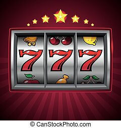 Slot machine lucky seven. Eps8. CMYK. Organized by layers....
