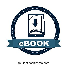 ebook design - ebook graphic design , vector illustration