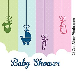 baby shower design - baby shower graphic design , vector...