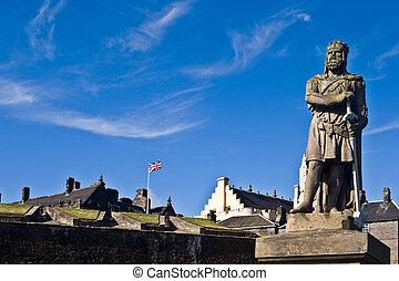 Robert The Bruce - King Robert The Bruce statue under a...