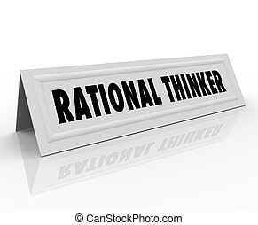 Rational Thinker Name Tent Card Reason Sensible Thought...