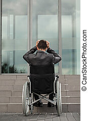 Problems with getting to work - A disabled businessman...