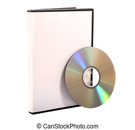 CD and DVD Case - An isolated CDDVD Case
