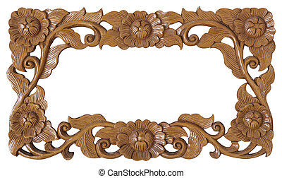 flower carved frame - Pattern of flower carved frame...