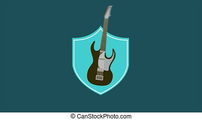 Guitar - Electric guitar, Animation, HD 1080