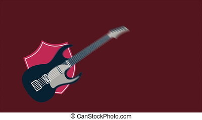 Guitar - Music Animation, HD 1080