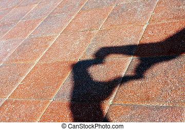 heart shape - shadow heart shape on the floor