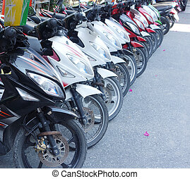 scooters - row of scooters