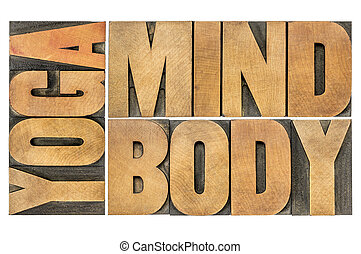 yoga, mind, body abstract - yoga, mind, body word abstract -...