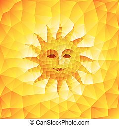 Sun face consist of triangles Eps8 RGB Organized by layers...
