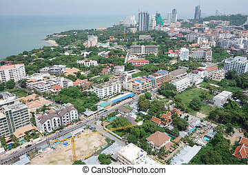 Pattaya, Thailand bird eye view