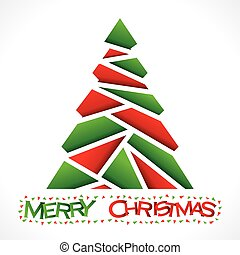 merry christmas tree design vector