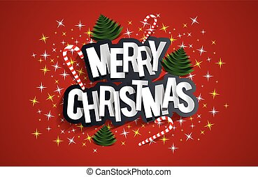 Merry Christmas Greeting Card With Candy Canes, Christmas...