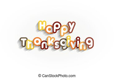 Happy Thanksgiving Design On background vector illustration