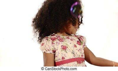 funny brazilian little girl isolat - brazilian child and...