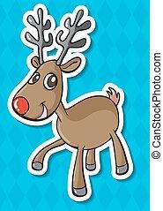Deer - illustration of a close up deer
