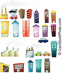 Buildings - illustration of different buildings