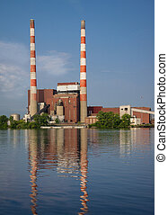 Coal Fired Electric Plant - Coal used to generate...
