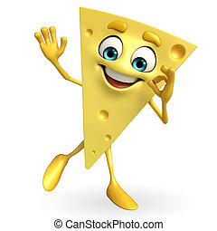 Cheese Character with best sign - Cartoon Character of...