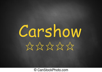 carshow black chalkboard golden star ranking - carshow live...
