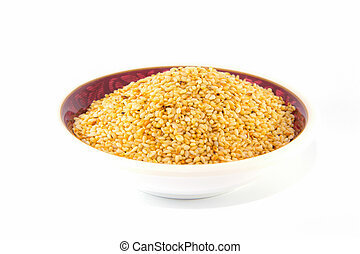 Sesame seed, Isolated  - Sesame seed on white background