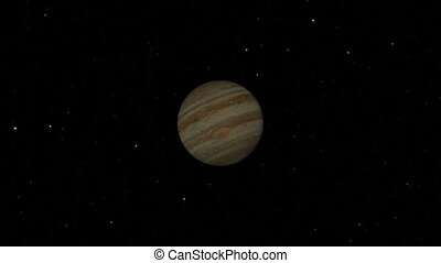 Jupiter Flyby. CG. hd
