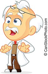 Crazy Professor - Clipart Picture of a Crazy Professor...