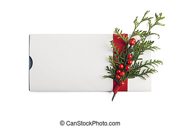 Beautiful xmas giftcard - Christmas giftcard isolated with...