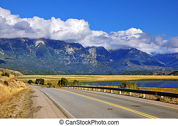 The longest road in Argentina Ruta 40 - Patagonia. The...