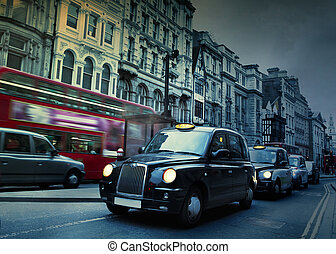 London Street. Taxis