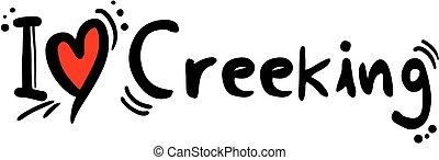 Creeking love - Creative design fo creeking love