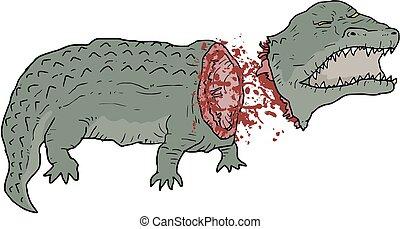 Crocodile dead - Creative design fo crocodile dead