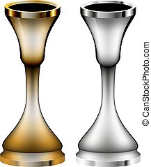 candlestick isolated illustration of two versions of the eps...