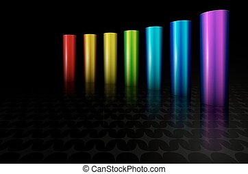 rainbow metal columns - rainbow metallic columns background...