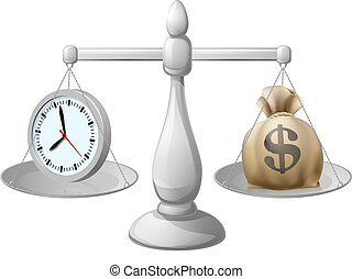 Time is money concept - Time is money business concept with...