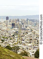 Aerial view of Downtown San Francisco - Aerial view of...