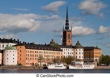 Riddarholmen - Historical Riddarholmen in Stockholm.