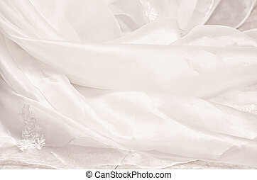 Wedding Gown Texture - Texture of white wedding gown