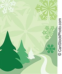 Christmas backgrounds - Chrhristmas card greeen
