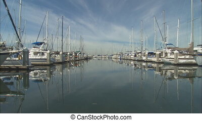 AlamedaMarina_LSboatwaymov - LS down a boatway or channel at...