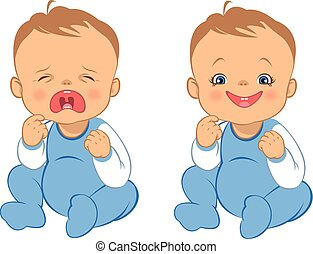 cry and smile baby - funny cartoons cry and smile baby