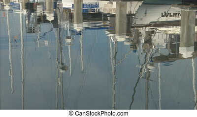 AlamedaMarina_MSreflectionsmov - MS reflection of boats...