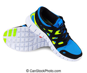 Running shoes - Lightweight running shoes for athletics on a...