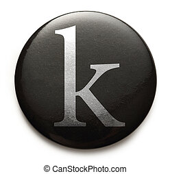 Latin letter k - Single lowercase latin letter k