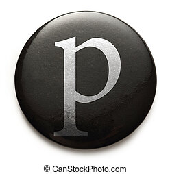 Latin letter p - Single lowercase latin letter p