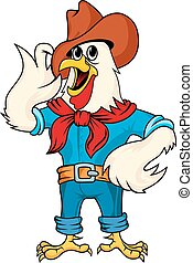 Cartoon rooster - Cartoon farm rooster for design Vector...